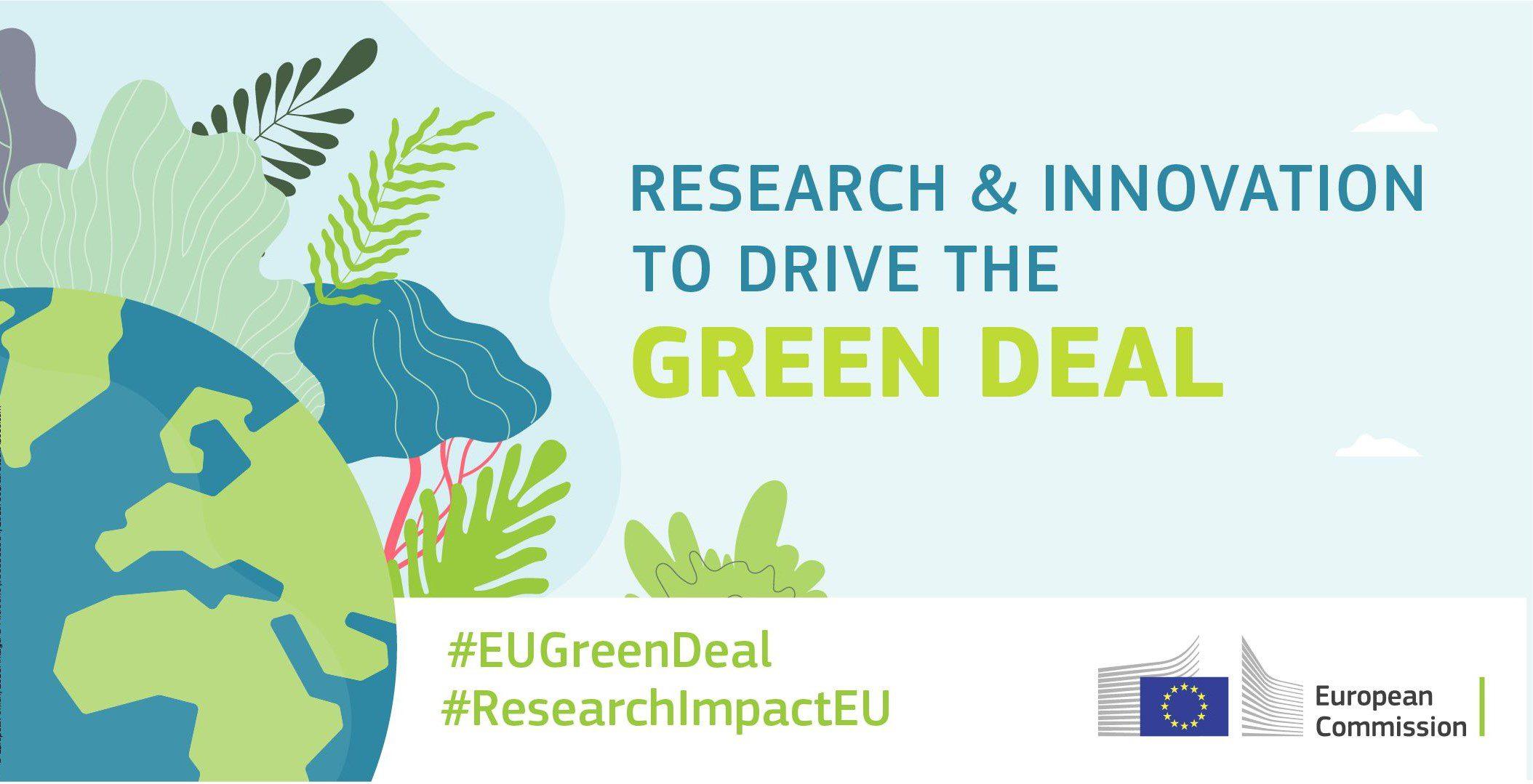 Programme H2020 Green Deal a pour ambition de renforcer la compétitivité de l'Europe et sa stratégie de croissance verte.